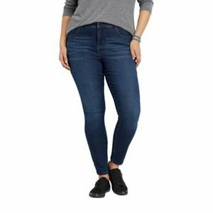Maurices Dark Indigo Skinny Jeans (Tall!)